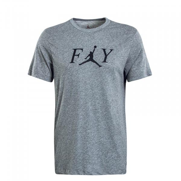 Herren T-Shirt Fly Dry Grey Black