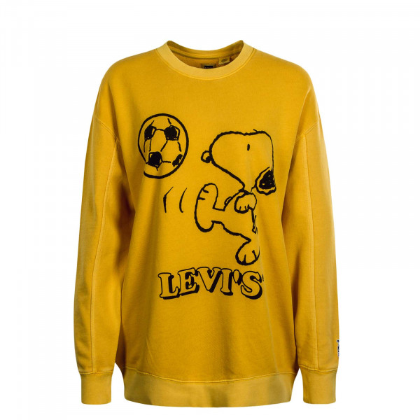Damen Sweat Crew Snoopy Yellow