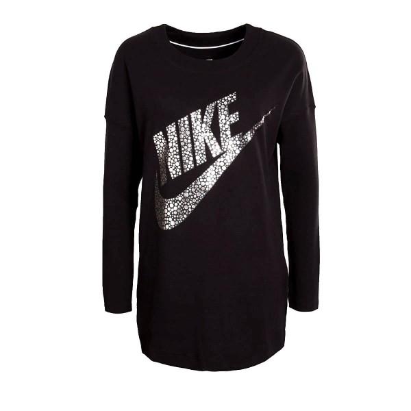 Nike Wmn Sweat Top GX Black Silver