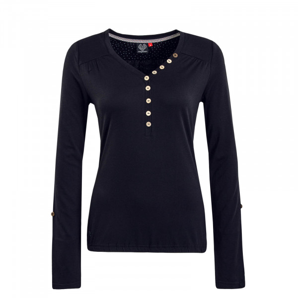 Damen Longsleeve Pinch Solid Black