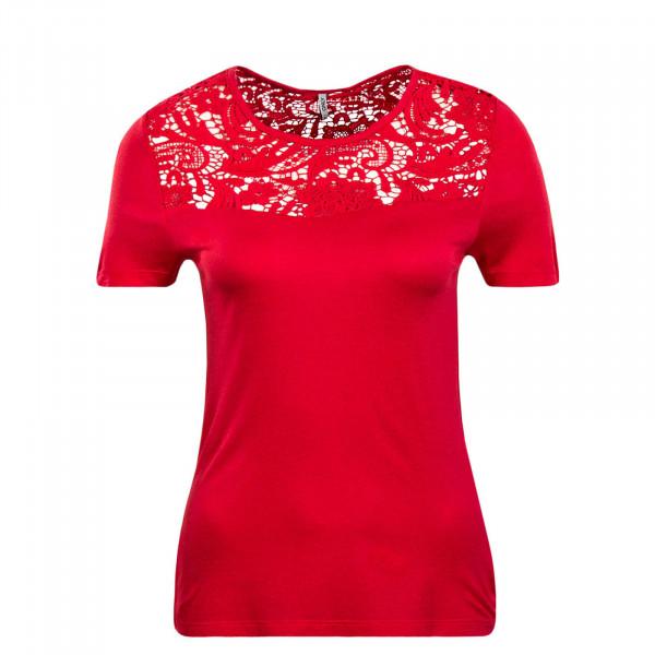 Damen T-Shirt Laiba Crochet Coral