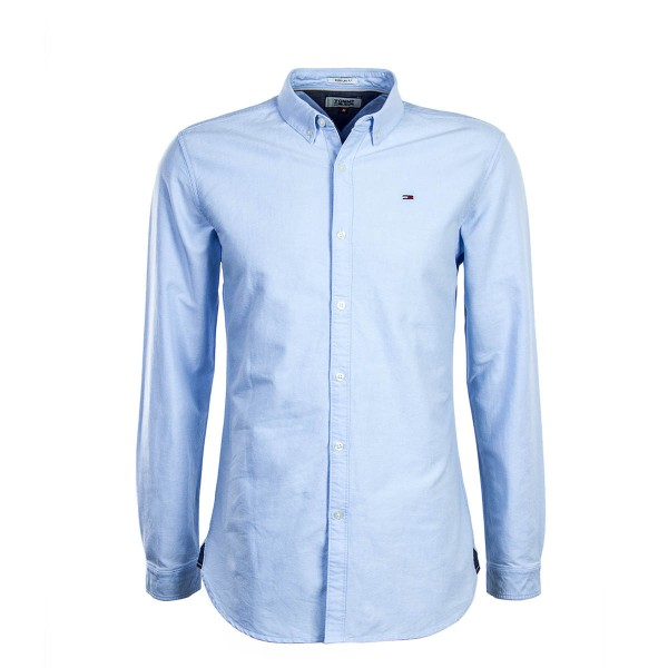 Tommy Hemd Regular TJM Basic Solid Blue