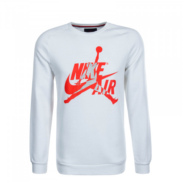 Herren Sweatshirt Jumpman Crew White Red