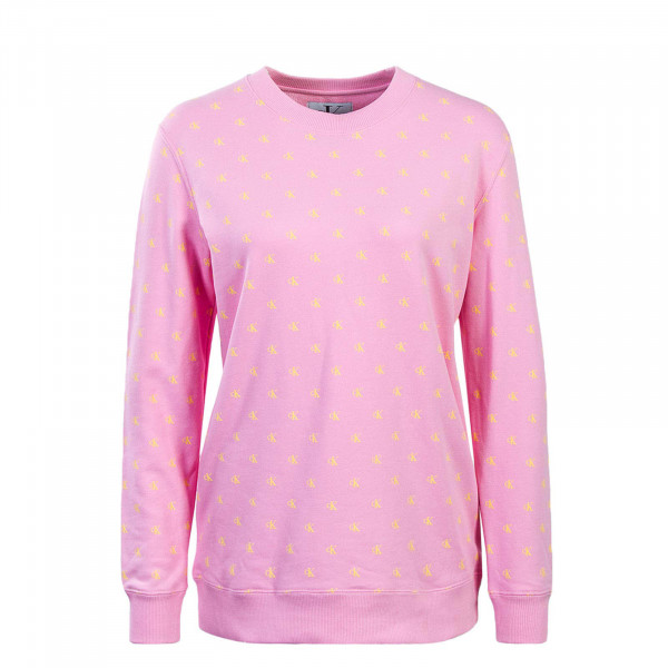 CK Wmn Sweat Monogram AOP Print Pink