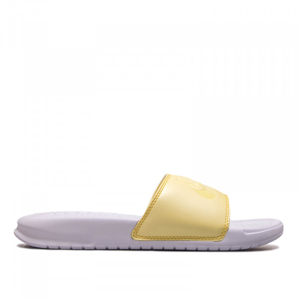 Damen Slide Benassi JDI White Yellow