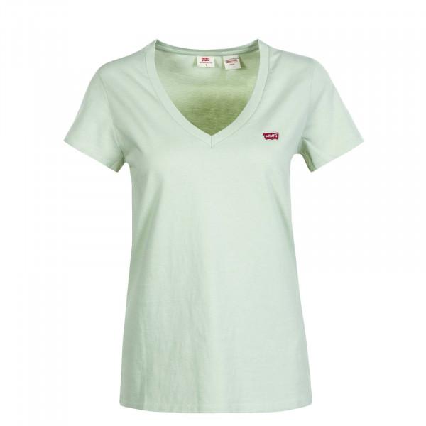 Damen T-Shirt Perfect V Neck Bok Choy
