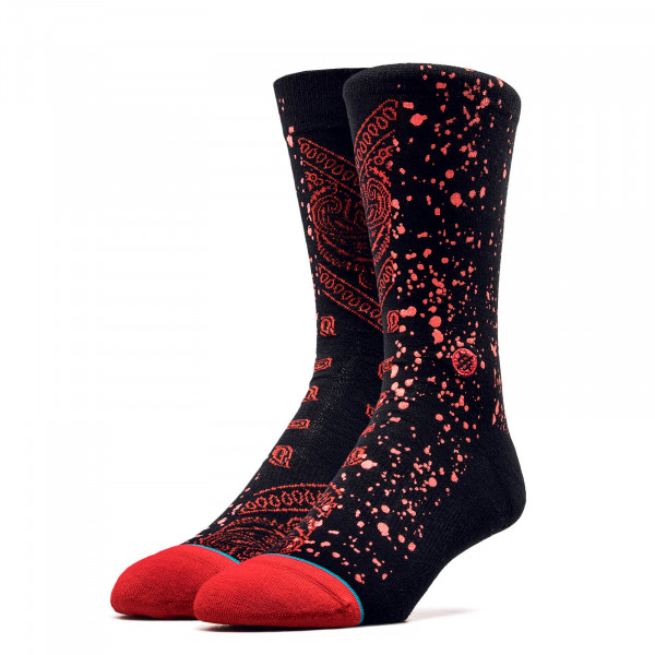 Stance Socks Anthem Rocket Black Red