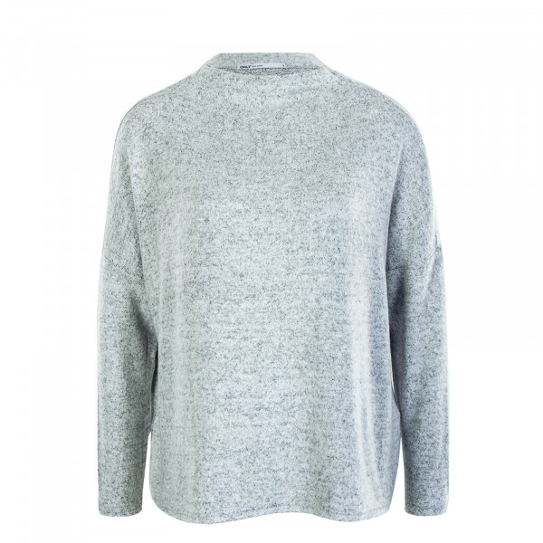 Damen Longsleeve Kleo Plain Light Grey Melange