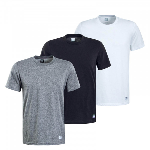 Herren T-Shirts 3er-Pack 7302 Grey Black White