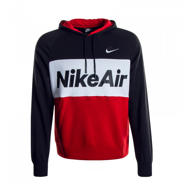 Herren Hoody Air Black Red