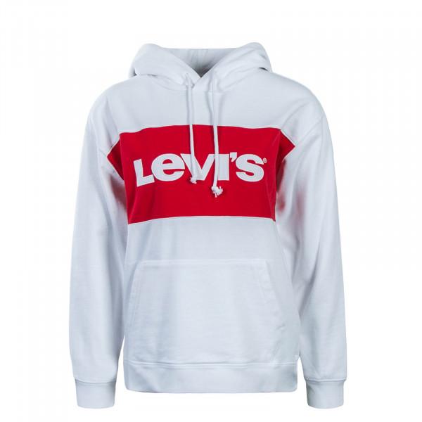 Levis Wmn Hoody CB Sportswear White Red