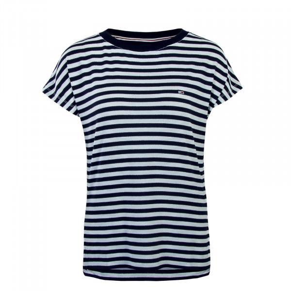 Tommy Wmn TS Textured Stripe White Navy