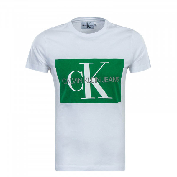T-Shirt Monogram White Green