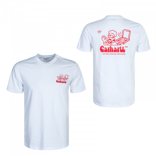 Herren T-Shirt Bene White Red