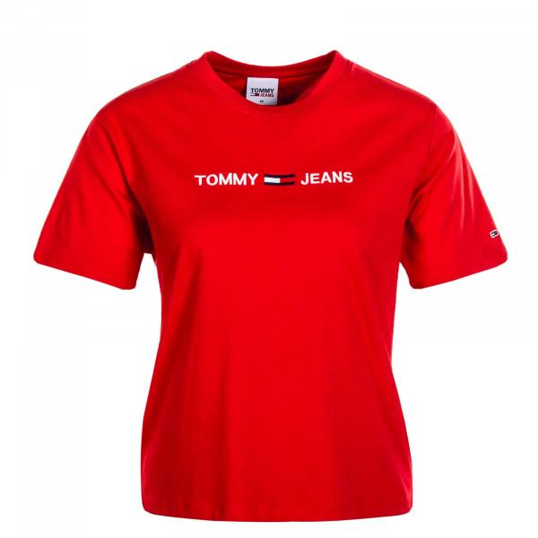 Damen T-Shirt Modern Linear Logo 8615 Red