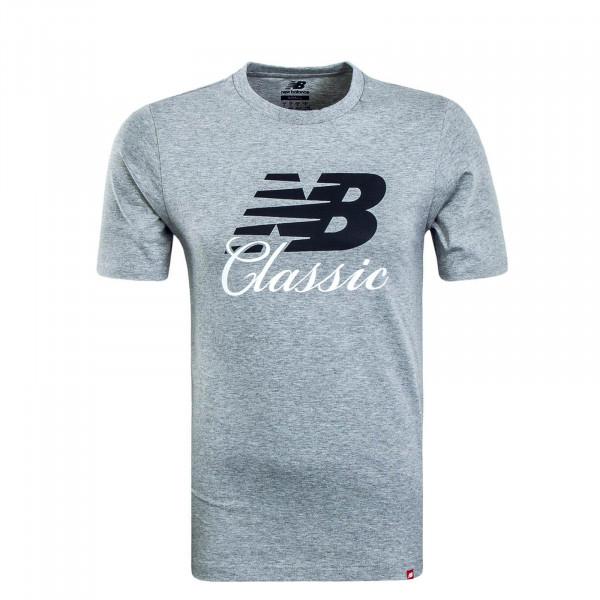Herren T-Shirt MT91588 Grey Black White