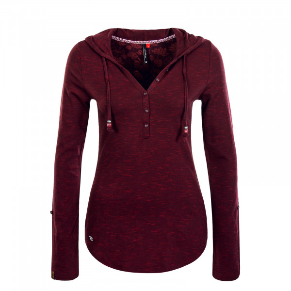 Damen Longsleeve Drop Bordeaux