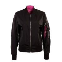 Alpha Wmn Jkt MA1 Reversible Black Pink
