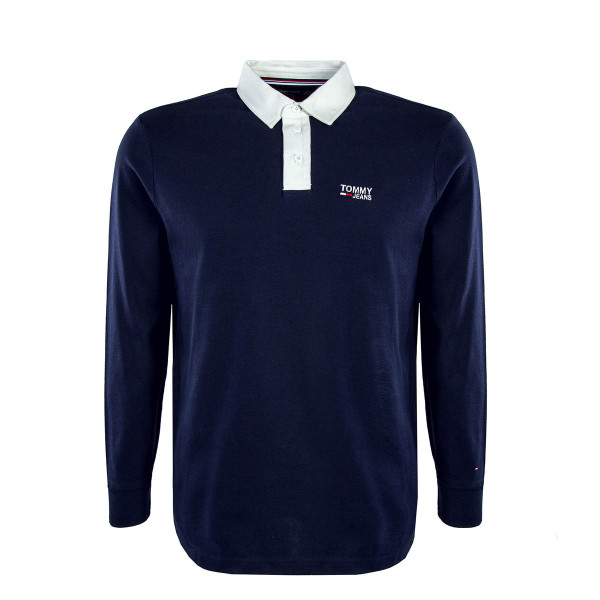 Tommy LS TJM Essential Rugby Navy