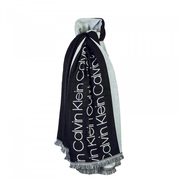 Ck Scarf Race Big Black Grey