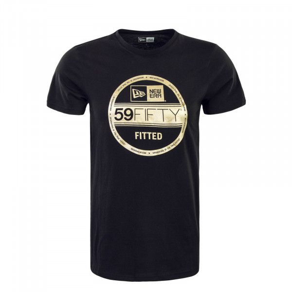 Herren T-Shirt NE Visor Sticker Black Gold