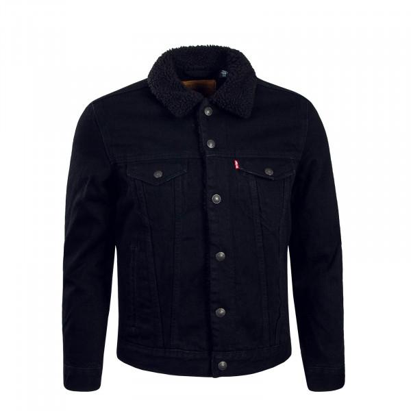 Levis Jeans Jacke Sherpa Trucker Mouse Black