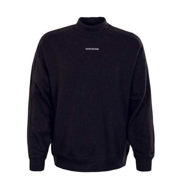 Herren Sweatshirt - Micro Branding Mock Crew - Black