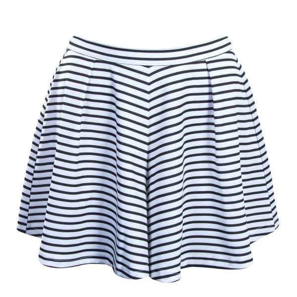 Only Short Esra Stripe White Black