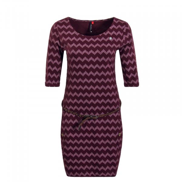 Damen Kleid Tanya Zig Zag Bordeaux