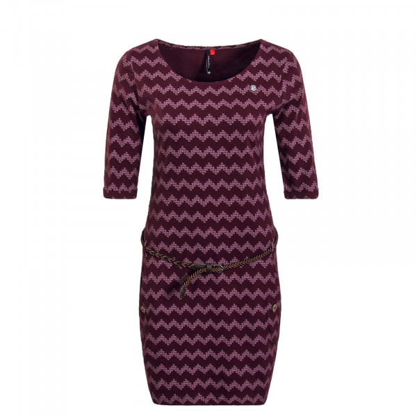 Damenkleid Tanya Zig Zag Bordeaux