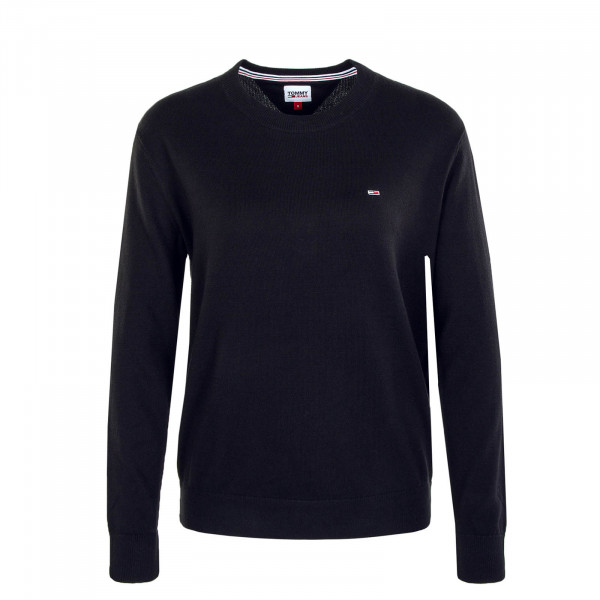 Damen Knit Sweater Soft Touch Black