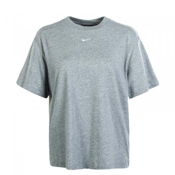 Damen T-Shirt NSW Essential SS BF Grey White