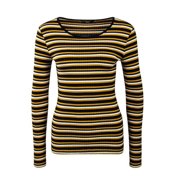 Only LS Isi Stripe Black Yellow White