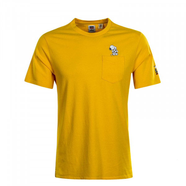 Herren T-Shirt Relaxed Soccer Snoopy Yellow
