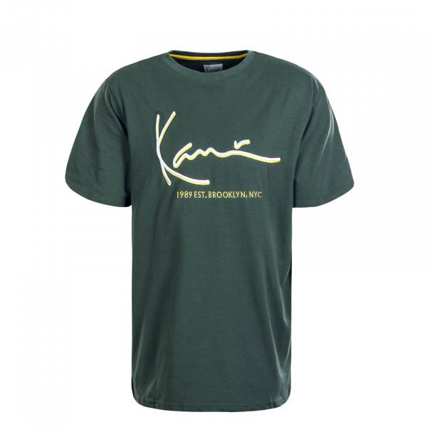 Herren T-Shirt Signature Green Yellow