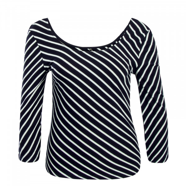 Damen Longsleeve Maya 3/4 Stripes Navy White