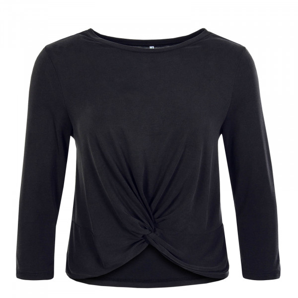 Damen Longsleeve  Ffree 3/4 Wrap Black