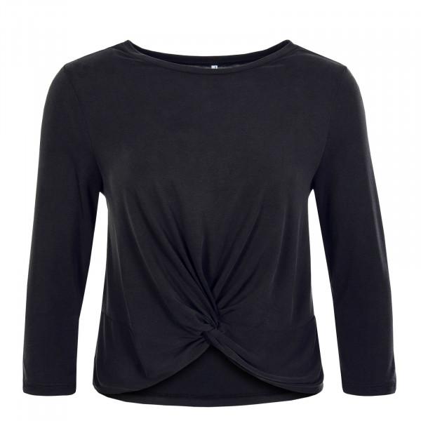 Damen Longsleeve - Ffree 3/4 Wrap - Black