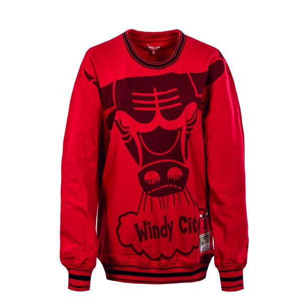 Damen Sweatshirt - Womens Big Face 3.0 Crew ChicagoBulls - red