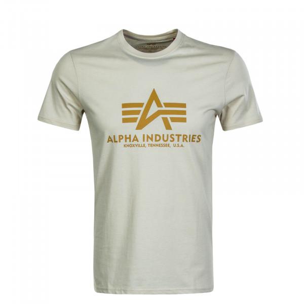 Herren T-Shirt Basic Beige