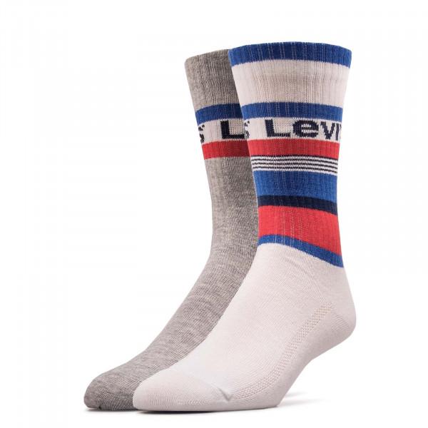 2er-Pack Socken Pairs Stripe White Blue Red