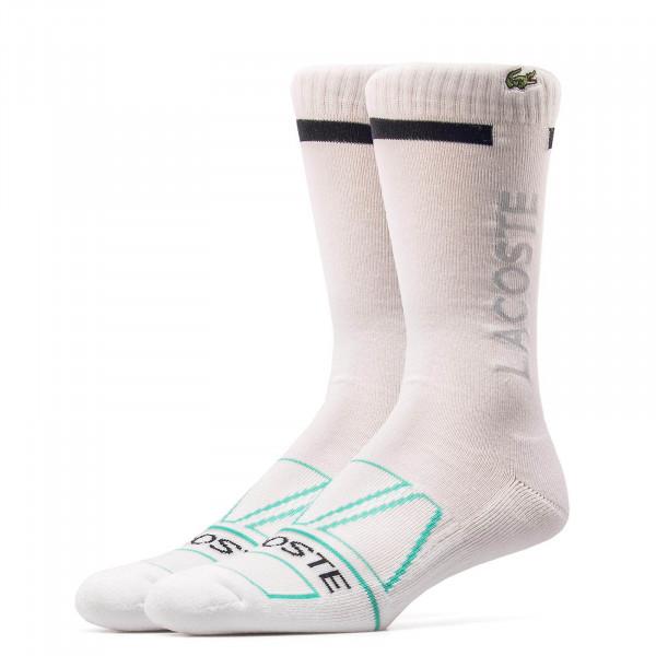 Lacoste Socks RA9273 White Black Mint