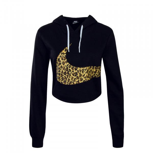 Nike Wmn Hoody  Crop Black Camo Beige