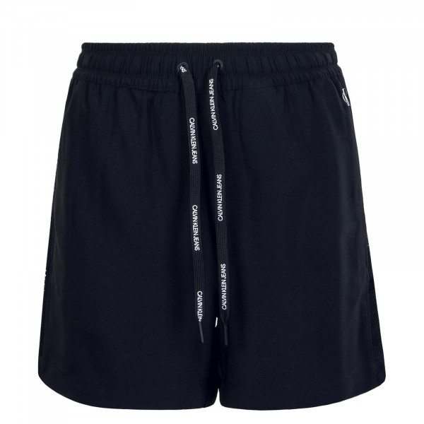 Damen-Short Branded Draw Black