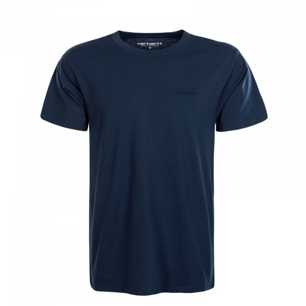 Herren T-Shirt Script Embroidery Admiral Black