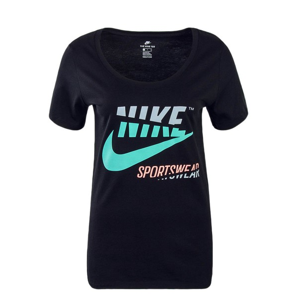 Nike Wmn TS Mash Up Black Green