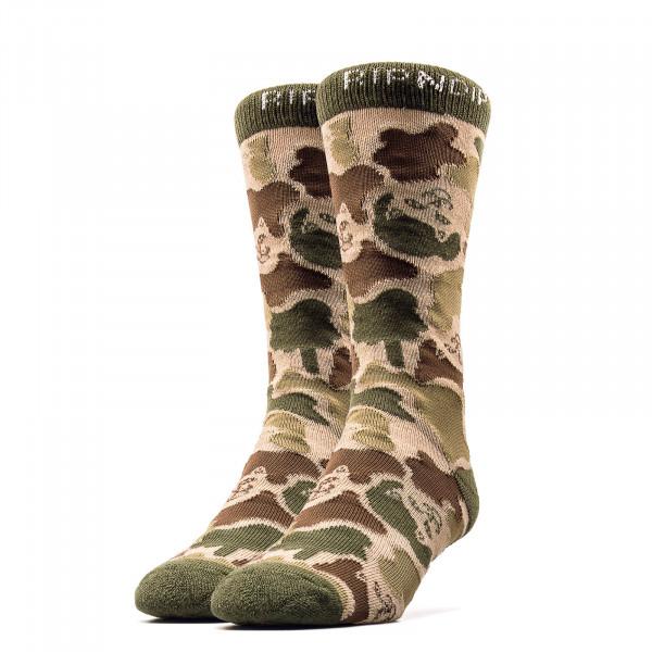 RipNDip Socks Nerm Camo Olive