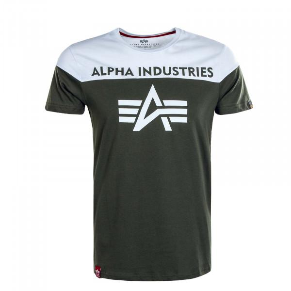 Herren T-Shirt CB T 506 Dk Olive White