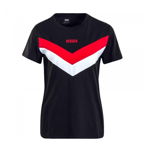 Damen T-Shirt Florence Black Red White