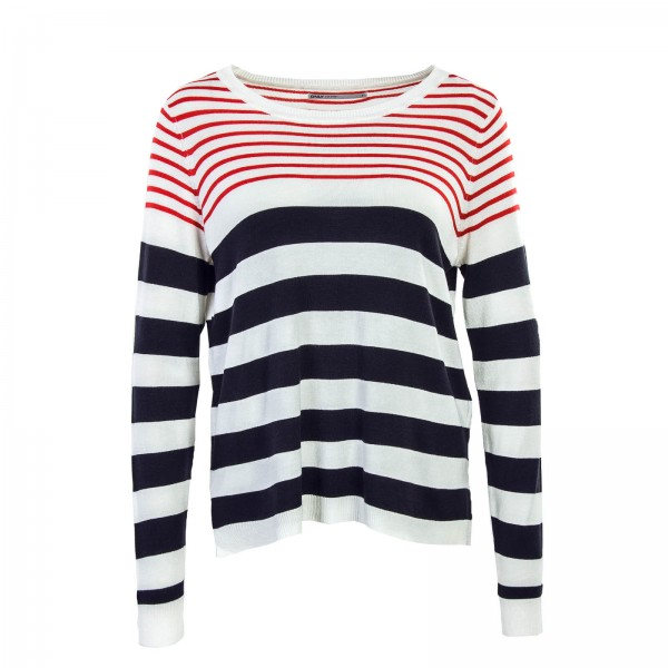 Only Knit Mila Stripe Beige Red Navy